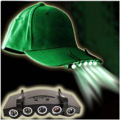 Lanterna cu 5 LED-uri si Cleme pentru Agatare pe Sapca sau Alte Suprafete