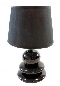 Veioza Camera cu Intensitate Reglabila, Lumina de Veghe, Putere 60W, Dulie E27, Culoare Negru