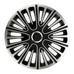 Set 4 Capace Roti Auto 14 Inch Argo Motion, Argintiu/Negru