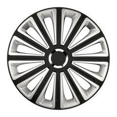 Set 4 Capace Roti Auto 14 Inch Versaco Trend RC, Negru/Argintiu