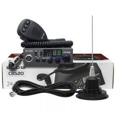 Kit Statie Radio Auto CB Blow CB520 cu Antena 85cm Inclusa, 40 Canale
