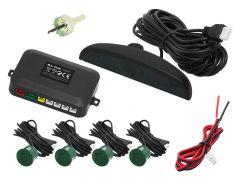 Set 4 Senzori de Parcare Auto Blow cu Display LCD si Avertizare Acustica + Cabluri si Accesorii Montaj