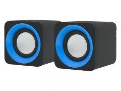 Boxe audio Blow 2.0 , USB, impedanta 4 ohmi, negru/albastru
