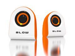 Boxe audio Blow 2.0 , USB, impedanta 4 ohmi, culoare alb/portocaliu