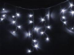 Instalatie Craciun tip perdea turturi, 3.8 metri, 96 LED-uri culoare calda, pentru interior