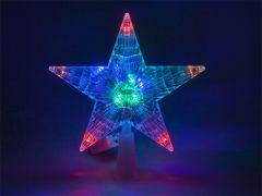 Varf brad Craciun Stea Blow, LED RGB