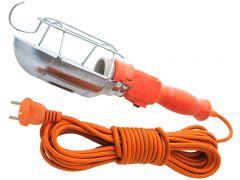 Lampa de Lucru pentru Atelier cu Buton ON/OFF, Protectie si Carlig de Agatare, Lungime Cablu 10m
