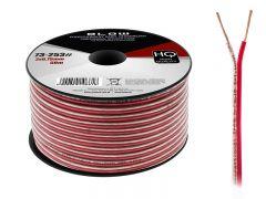 Cablu Audio Profesional pentru Difuzoare Auto, Lungime 50m, 2x0.75mm, Negru/Rosu