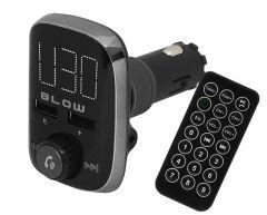 Modulator FM Auto MP3 Bluetooth Blow 12/24V, Afisaj LED, 2xUSB, Telecomanda, AUX, Functie Telefon