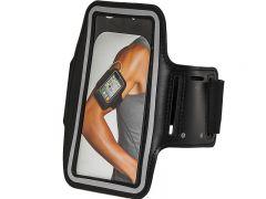 Husa universala protectie telefon, cu buzunar pentru chei, montare pe brat, culoare negru