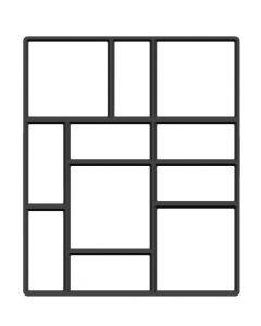 Matrita cu Contur pentru Turnat Pavaj din Beton, Model cu Dreptunghiuri