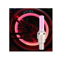 Set 2 capacele ventil LED Culoare rosu, cu pornire automata