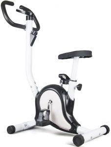 Bicicleta pentru Fitness FunFit, Multifunctionala cu Afisaj LCD, Reglabila, Culoare Negru/Alb