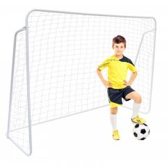 Poarta de fotbal mare cu plasa, dimensiuni 213x152x75 cm, culoare Alb
