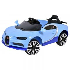Masinuta electrica pentru copii, cabrio iluminat Led cu telecomanda, panou muzical, MP3, USB, AUX si MicroSD, Culoare Albastru