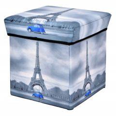Scaun Taburet Paris Pliabil cu Loc pentru Depozitare