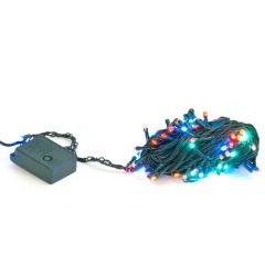 Instalatie pentru Craciun Multicolora cu 100 LED-uri, Lungime 10m, 8 Moduri de Iluminare
