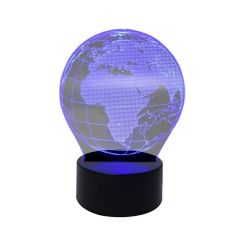 Lampa Laser LED Proiector 3D Multicolor Glob Pamantesc Decorativ
