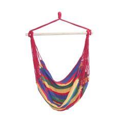 Hamac Brazilian tip Scaun pentru Casa, Curte sau Gradina, Capacitate 120kg, Multicolor