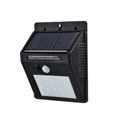 Lampa Solara de exterior cu incarcare solara, senzor de lumina si miscare, 20 LED-uri, 1200 mAh 3.7V