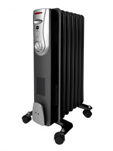 Calorifer electric cu ulei, putere 1500W, termostat reglabil, negru