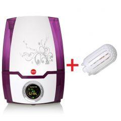 Set Umidificator de Aer Ultrasonic Foggy + 1 Filtru Ceramic pentru Camera 20mp, Putere 30W, Randament 30ml/h, Afisaj Digital, Functie de Ionizare, Control Digital, Capacitate 5.2L