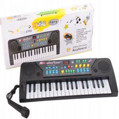 Orga Electronica cu 37 Clape, Afisaj si Microfon pentru Copii, Culoare Negru