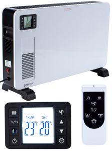Convector Electric MalTec CH3500DW, Putere 2300W, 3 trepte incalzire, panou LCD, termostat, maner de transport, protectie la supraincalzire si telecomanda