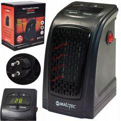 Mini Radiator Aeroterma Electrica de Perete MalTec Ceramic pentru Camera sau Birou, Afisaj LED cu Controlul Temperaturii, Putere 400W