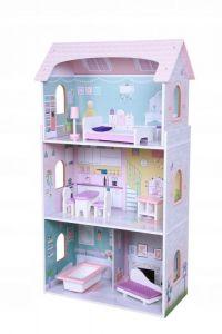 Jucarie Casa Mare pentru Copii cu 4 Camere si  8 piese mobilier, dimensiune 95 X 27 cm