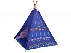 Cort de Joaca pentru Copii tip Coliba Indian, Exterior sau Interior, Culoare Albastru