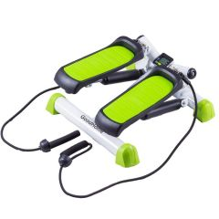 Stepper Fitness Multifunctional cu Afisaj LCD, Computer si 2 Corzi Expandere
