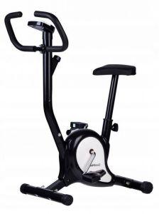 Bicicleta pentru Fitness Reglabila cu Afisaj LCD Diferite Valori, Capacitate 120kg, Culoare Alb/Negru