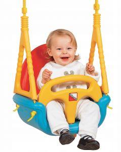 Leagan Modular 3-in-1 pentru Copii 0-7 Ani, Spatar si Protectie Anti-Cadere Detasabile, Multicolor