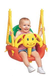 Leagan Modular 3-in-1 pentru Copii cu Spatar Detasabil si Protectie Impotriva Caderii