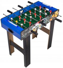 Masa Joc de Mini Fotbal Foosball din Lemn, 18 Fotbalisti, 6 Tije, Dimensiuni 65x35cm