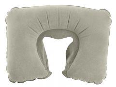 Suport Perna gonflabila confortabila pentru calatorii, culoare Gri, dimensiuni 31x32cm