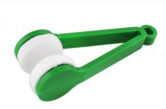 Dispozitiv pentru Curatat Lentile Ochelari din Bumbac Moale, Diametru 7cm