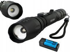 Lanterna Militara cu Zoom, 3 moduri de iluminat, LED Cree, 2000W, XML-T6