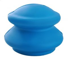 Ventuza terapeutica din cauciuc pentru masaj anti-celulitic si relaxare musculatura, culoare Albastru