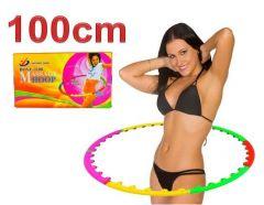 Cerc fitness Hula Hoop demontabil cu functie de masaj, diametru 100cm