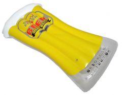 Saltea gonflabila tip colac halba bere pentru piscina, dimensiuni 165x80cm, capacitate 80kg