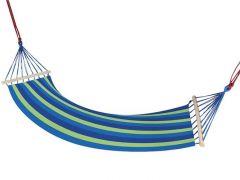 Hamac Albastru pentru 1 persoana, ideal pentru relaxare in gradina sau curte, dimensiuni 195x85 cm, capacitate 150kg