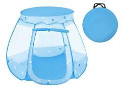 Cort pliabil de joaca pentru copii, tip iglu, culoare Albastru