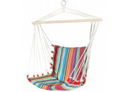Hamac Brazilian tip Scaun Fotoliu pentru Curte sau Gradina, Capacitate 120kg, Multicolor