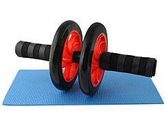 Rola abdominala dubla pentru exercitii fitness + covoras inclus