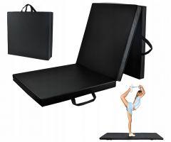 Saltea pliabila pentru sport, exercitii, gimnastica, fitness, yoga sau altele, culoare Negru