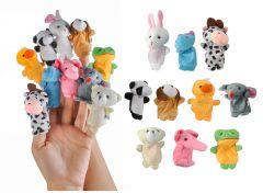 Set Animals 10 marionete - papusi pentru degete in forme si culori diferite