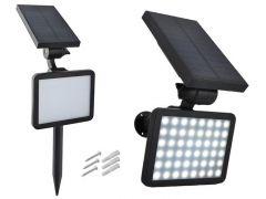 Lampa Solara Tip Proiector cu 48 de LED-uri, Lumina Alb Rece