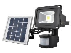 Proiector led cu incarcare solara rezistent la apa, senzor de miscare incorporat